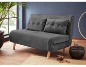 my home Slaapbank met uittrekbare metalen steunpoten, slaapfauteuil in 2 afm. te bestellen, modern logeerbed