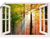 Artland Artprint Blik uit het venster - mooie herfstdag 2 in vele afmetingen & productsoorten -artprint op linnen, poster, muursticker / wandfolie ook geschikt voor de badkamer (1 stuk)