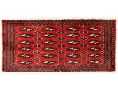 morgenland wollen kleed Turkaman Teppich handgeknüpft rot