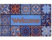 Home affaire Mat Welcome tegels Inloopmat, met quote, geschikt voor binnen en buiten