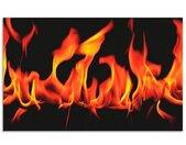 Artland Keukenwand Vuur 2 - vlammen zelfklevend in vele maten - spatscherm keuken achter kookplaat en spoelbak als wandbescherming tegen vet, water en vuil - achterwand, wandbekleding van aluminium (1-delig)