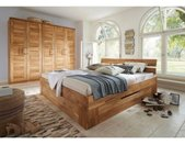 Premium collection by Home affaire Massief houten ledikant Tommy van massief wildeiken, in verschillende breedten, balkenbed, futonbed