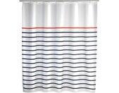 WENKO Douchegordijn Marine white Hoogte 200 cm, polyester. Wasbaar