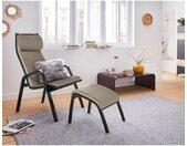 andas Relaxfauteuil Goal met hocker, tv-fauteuil in 3 verschillende stofkwaliteiten