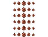 Thüringer Glasdesign Kerstbal Koperkleur Glans Made in Germany (set, 30 stuks)