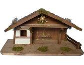 Alfred Kolbe Kribbe Kerststal voor 11 cm figuren met massief houten vloer Echt hout (1-delig)