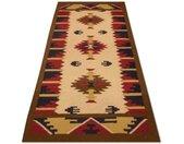 morgenland wollen kleed Kelim Afghan Teppich handgewebt beige Laagpolig