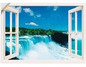 Artland Artprint Blik uit het venster - Niagara in vele afmetingen & productsoorten -artprint op linnen, poster, muursticker / wandfolie ook geschikt voor de badkamer (1 stuk)