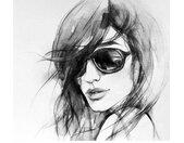 Wall-Art Vliesbehang I wear my sunglasses