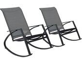 Tuinschommelstoelen 2 st textileen donkergrijs