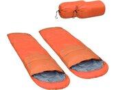 Slaapzakken 2 st lichtgewicht 15  850 g oranje