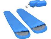 Slaapzakken 2 st lichtgewicht 15  850 g blauw