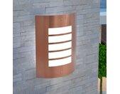 Wandlamp buiten koperkleuring roestvrij staal