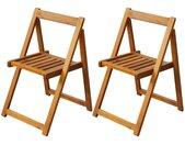 Klapstoelen voor buiten acaciahout 2 st