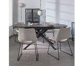 Kave Home Uitschuifbare Eettafel Yodalia Marmer, 130-190 x 100cm,
