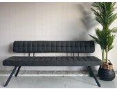 Eetbank 150 cm open rug zwart