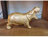 Tafellamp Hippo Mat Goud