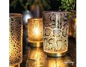 Tafellamp LED SNAKE Glas Wit – Zwart groot