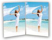fotolijst Vertical 10 x 15 cm transparant 2 foto's