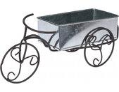bloembak fiets zwart 25x15 cm