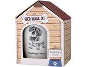 mok Dog Ruwharige Teckel 300ml keramiek wit