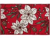 deurmat Christmas 57 x 140 cm polyamide wit/rood