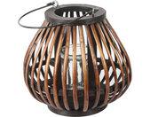 windlicht Omara 23 x 23 x 22 cm hout bruin
