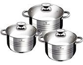 kookpannenset Gourmet RVS zilver 6-delig