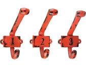 kapstokhaak 9,4 x 6,8 x 11,3 cm gietijzer rood 3 stuks