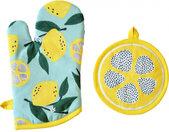 pannenlap en ovenwant Samba polykatoen geel 2-delig