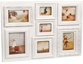 fotolijst Baroque 46 x 60,5 cm polypropyleen wit 7 foto's