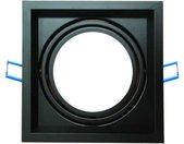 inbouwspot VT-7221 AR111 17,4 x 17,4 cm aluminium zwart