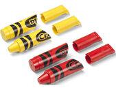wandhaak polypropyleen geel/rood 4 stuks