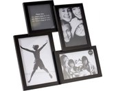 fotolijst Insernia 30,5 x 30,5 cm zwart 4 foto's