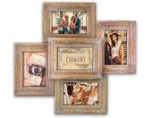collagelijst Corey 45 x 49 cm hout bruin 5 foto's