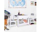 vidaXL Kindertafel met 2 stoelen MDF wit