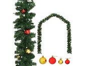 vidaXL Kerstslinger versierd met kerstballen 5 m
