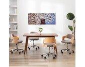 vidaXL Wandprintset bloemen in vaas 150x60 cm canvas meerkleurig