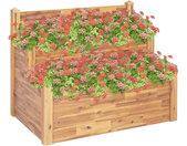 vidaXL Plantenbak 2-laags 110x75x84 cm massief acaciahout