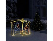 vidaXL Kerstdecoratie kerststal 240 LED's 116x41x87 cm