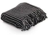 vidaXL Plaid vierkanten 220x250 cm katoen zwart