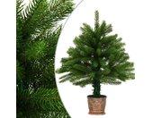 vidaXL Kunstkerstboom met levensechte naalden 65 cm groen