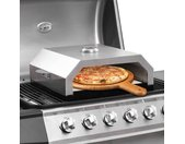 vidaXL Pizzaoven met keramische steen voor gas-/houtskoolbarbecue
