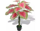 vidaXL Kunst caladium plant met pot 70 cm groen en rood