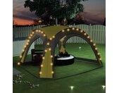 vidaXL Partytent met LED en 4 zijwanden 3,6x3,6x2,3 m groen
