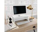 vidaXL Monitorstandaard 42x24x13 cm spaanplaat wit