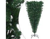 vidaXL Kunstkerstboom omgekeerd met standaard 210 cm groen