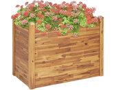 vidaXL Plantenbak verhoogd 110x60x84 cm massief acaciahout
