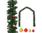 vidaXL Kerstslinger versierd met kerstballen 20 m