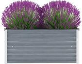 vidaXL Plantenbak verhoogd 100x40x45 cm gegalvaniseerd staal grijs